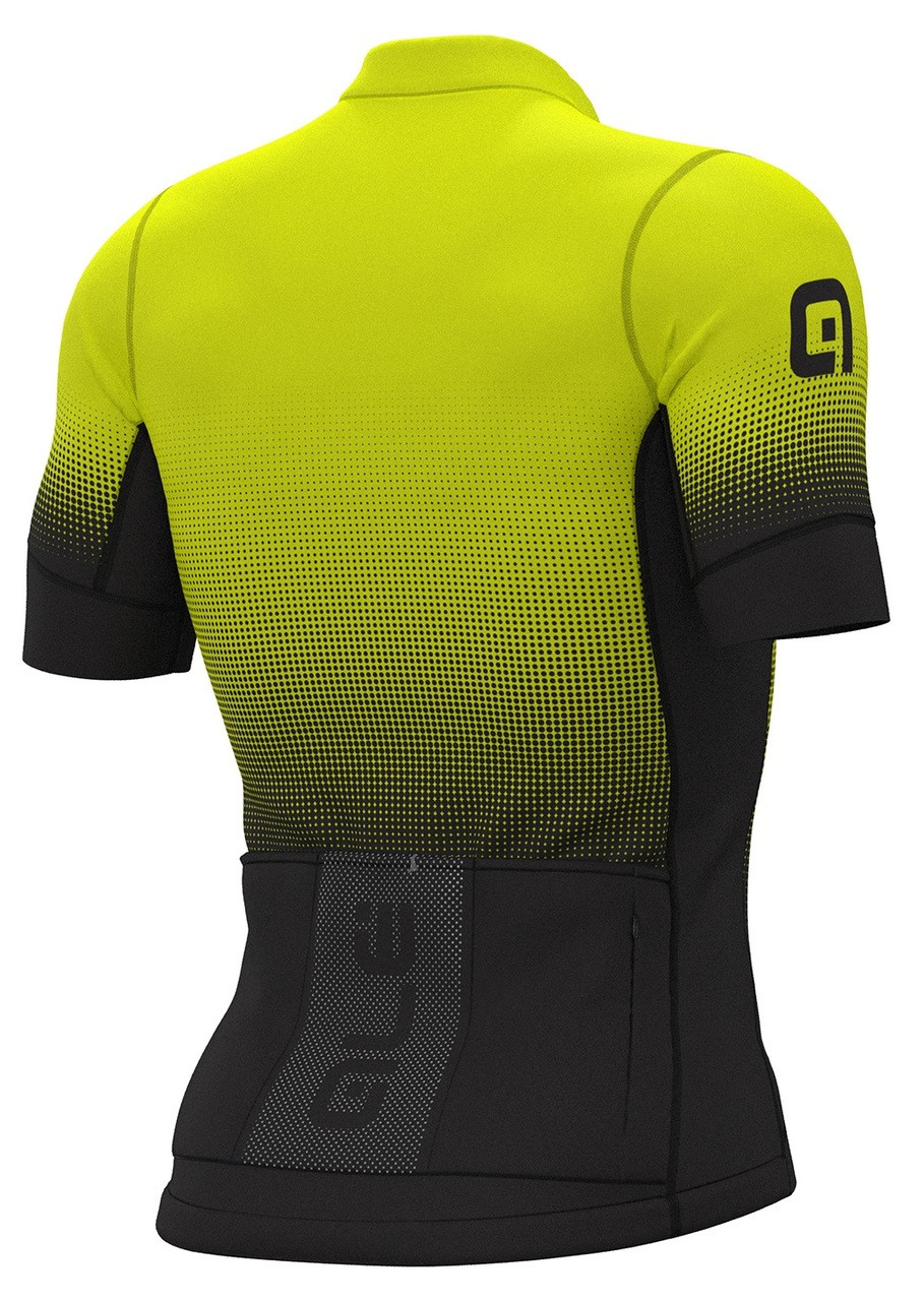 ALE' Dots PRS Black Fluo Yellow Jersey Rear