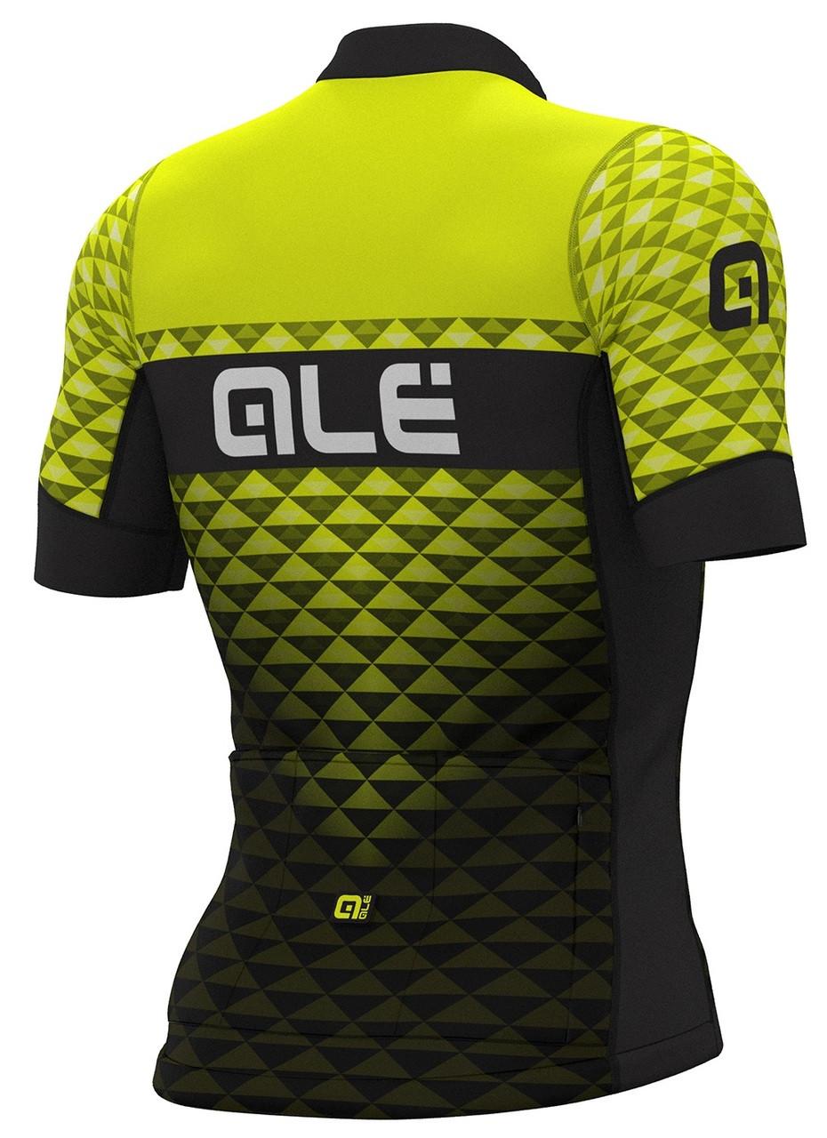 ALE' Hexa PRS Black Fluo Yellow Jersey Rear