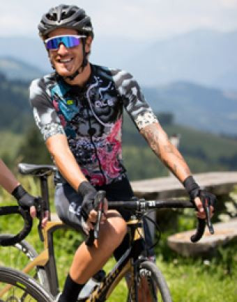 ALE' Oceans PRR Gerbera Bib Shorts Rider