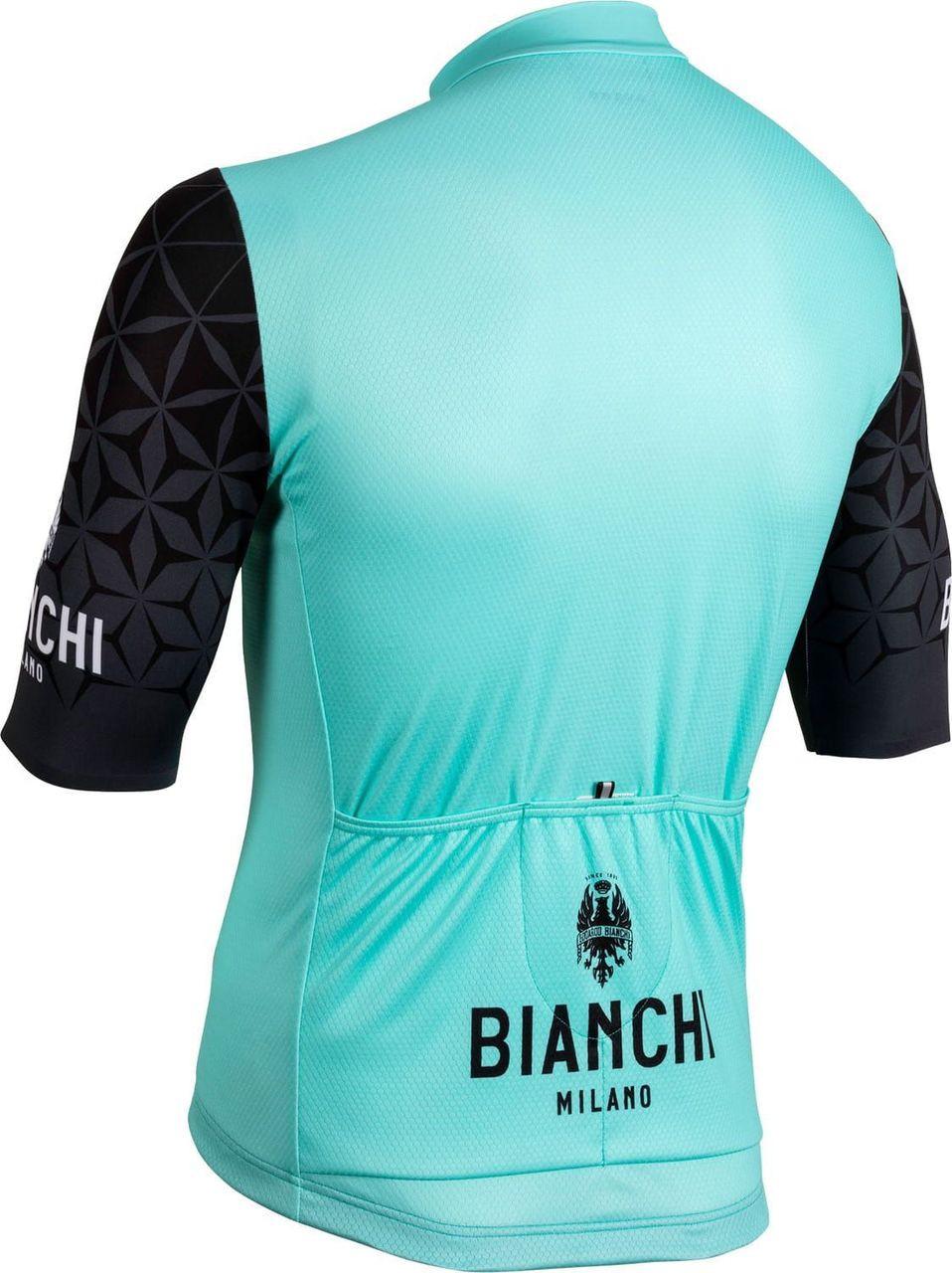 Bianchi Milano Pedaso Green Black Jersey Rear