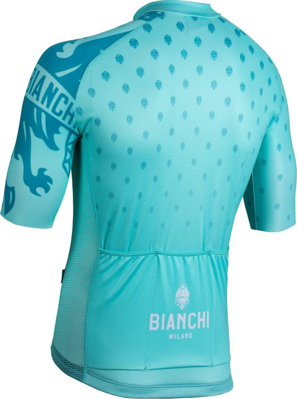 Bianchi Milano Savignano Green Jersey rear