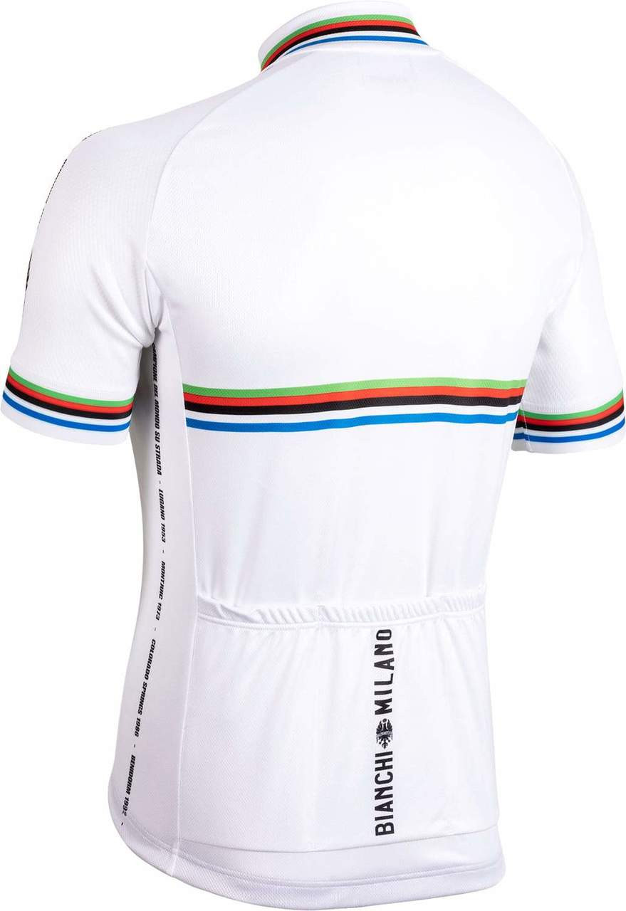 Bianchi Milano New Pride White Jersey Rear