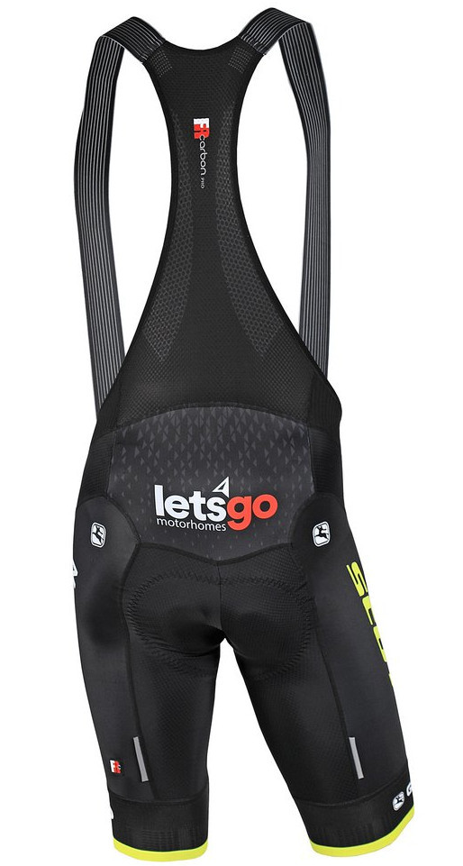 2019 Mitchelton Scott FRC Pro Bib Shorts Rear