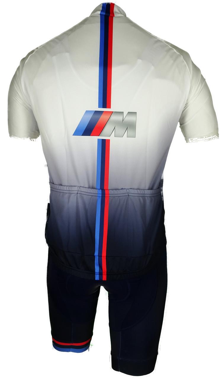 2020 BMW M White Racing Full Zipper Jersey Rear