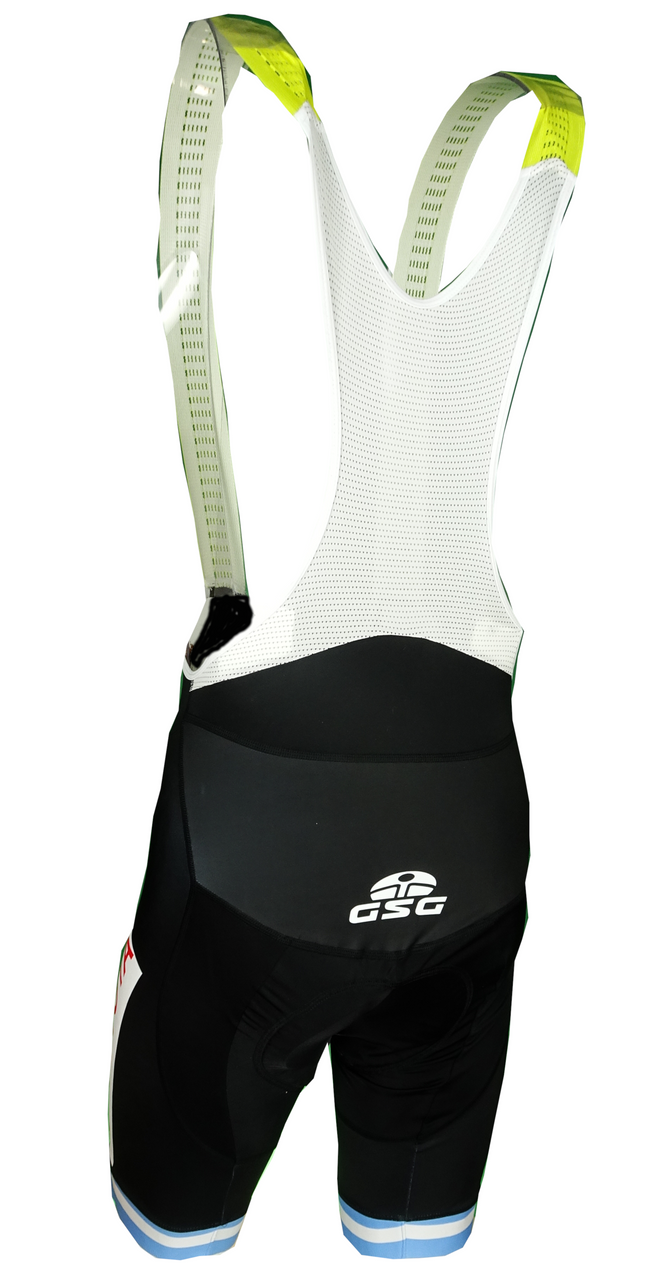 Vuelta San Juan Toyota Yellow Sprint Bib Shorts Rear