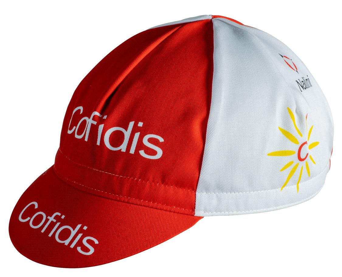 Retro Cofidis Red White Pro Cycling Team vintage cotton cap