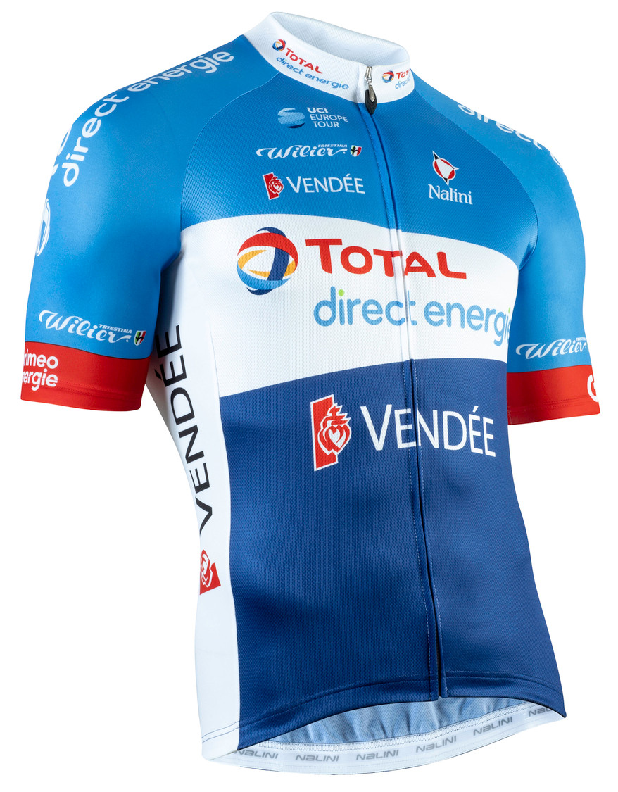 2019 Direct Energie Full Zip Jersey