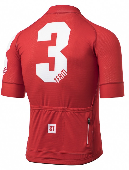 3T Team Red Race Full Zip Jersey Rear