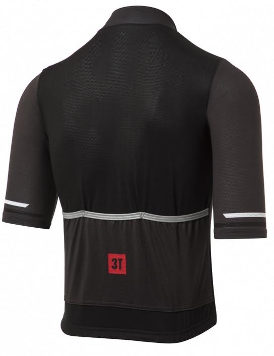 3T Team Charcoal Retro Full Zip Jersey Rear