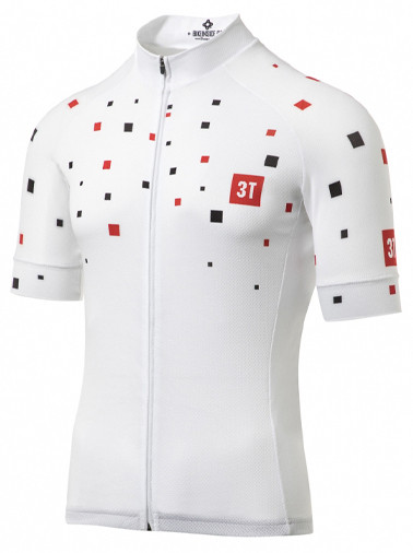 3T Team White Squares Full Zip Jersey