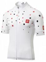 3T Team White Squares Full Zip Jersey