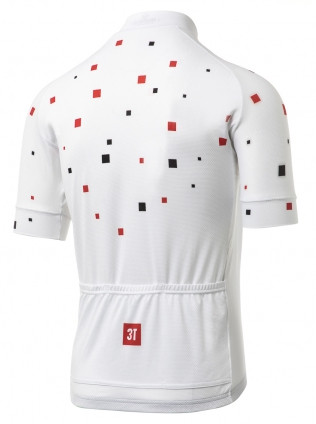 3T Team White Squares Full Zip Jersey Rear