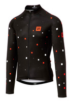 3T Team Black Squares Long Sleeve Jersey