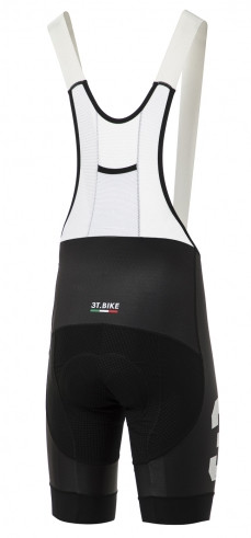 3T Team Black Bib Shorts Rear