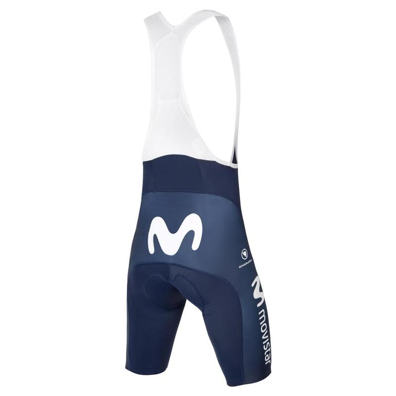 2019 Movistar Team Bib Shorts Rear