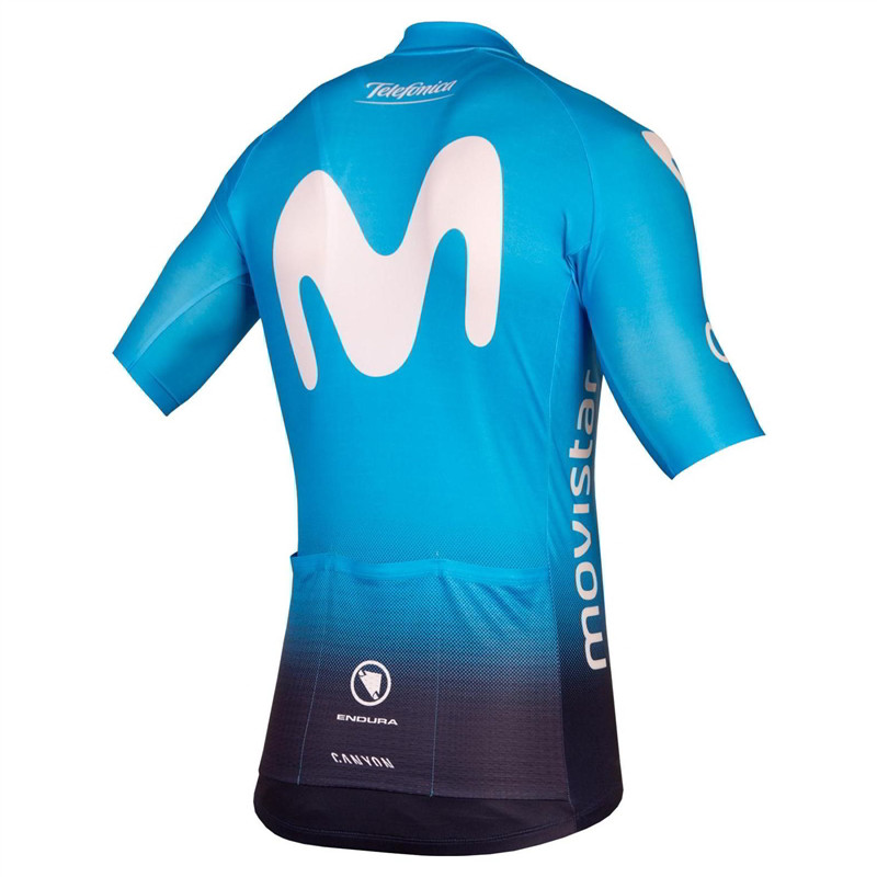 2019 Movistar Team Full Zip Jersey Rear