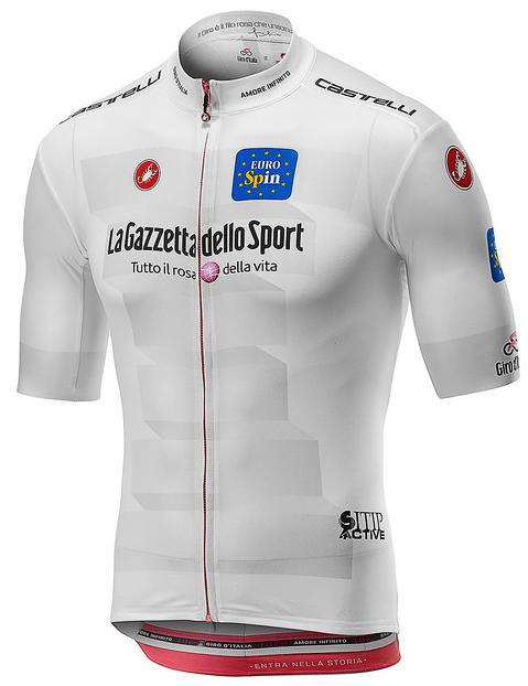 2019 Giro White Best Young Rider Full Zip Jersey