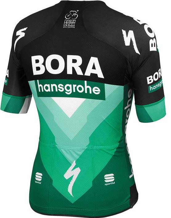 2019 Bora Hansgrohe Black Green Jersey Rear