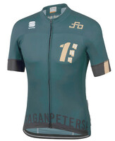Sagan One Green Gold Full Zip Jersey
