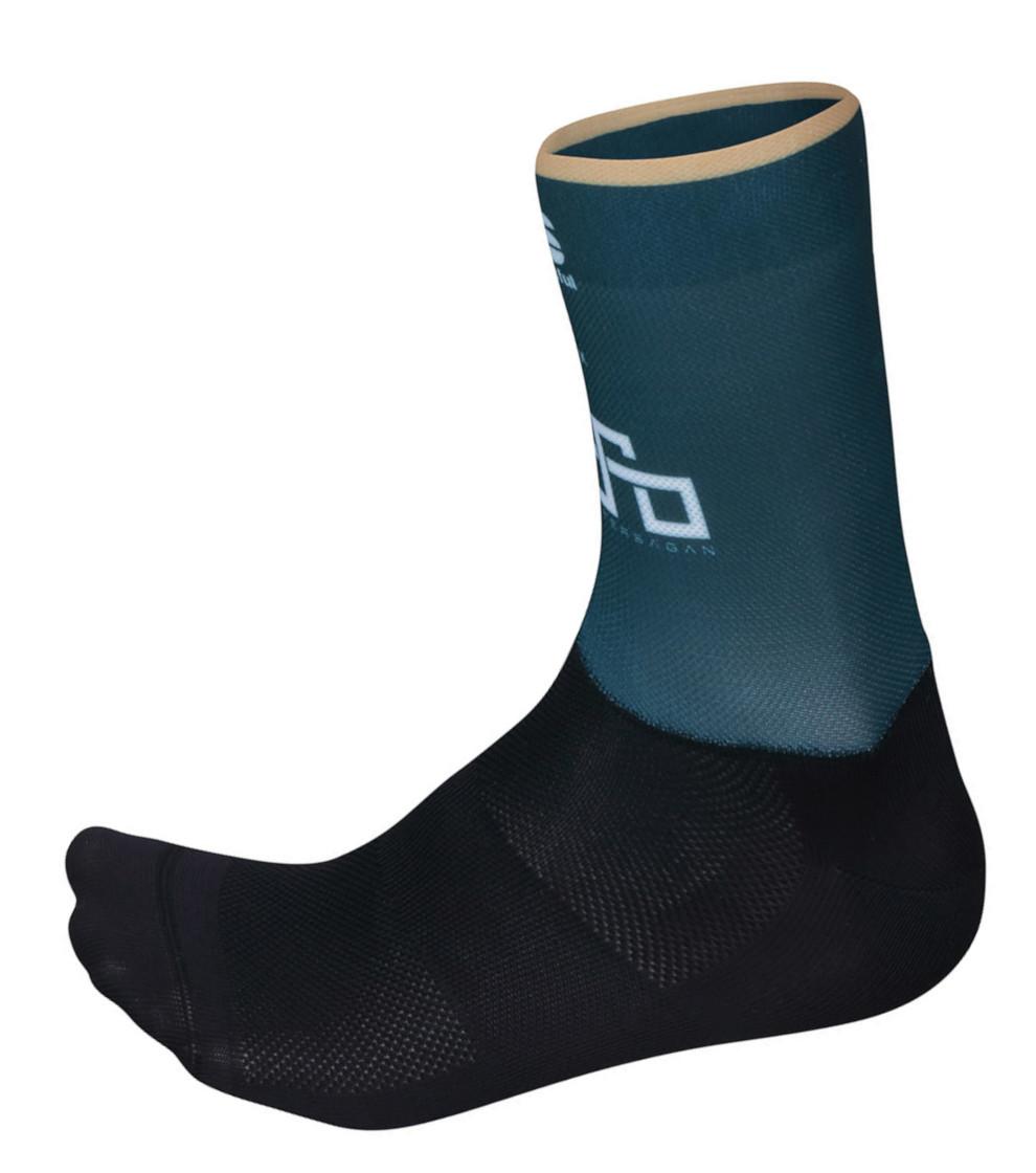 Sagan Gold Green Socks