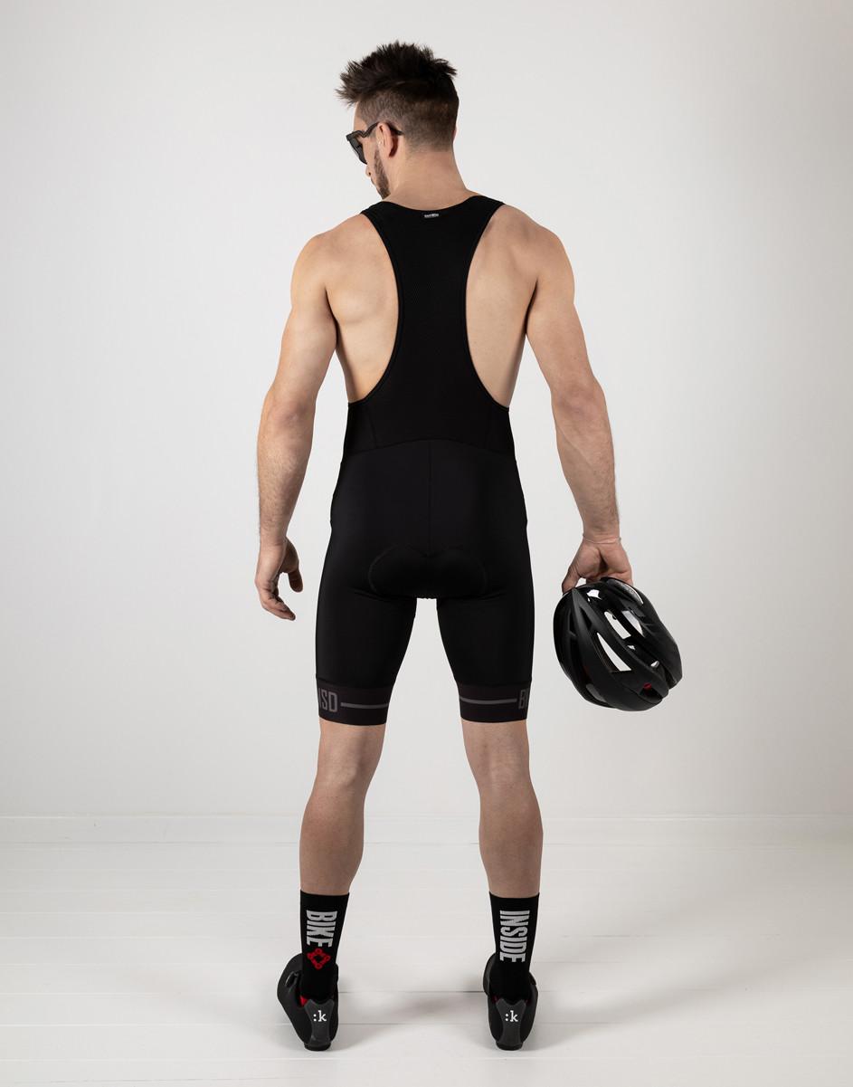 BK-NSD Endurance Seamless Black Bib Shorts Rear