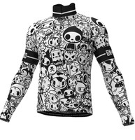 BK-NSD Tokidoki Thermal Black White Long Sleeve Jersey