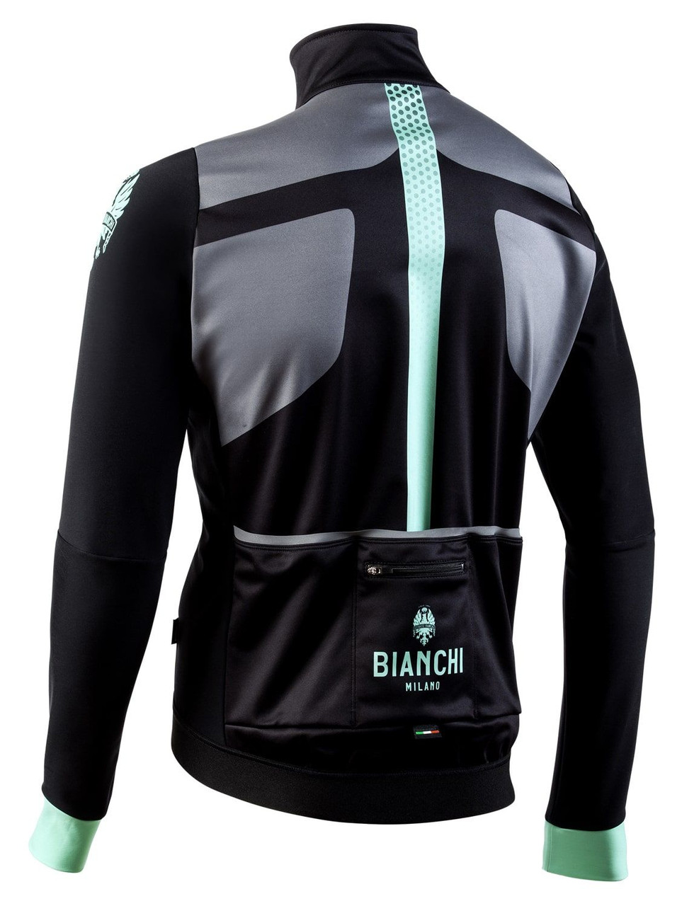 Bianchi Milano Marzeno Black Green Jacket Rear