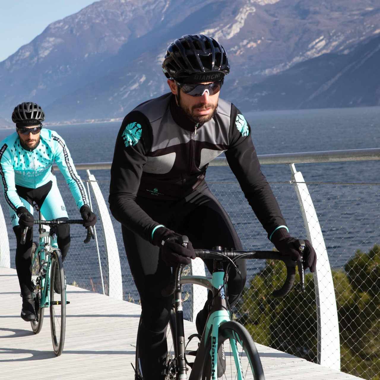 Bianchi Milano Marzeno Black Green Jacket Rider