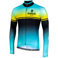 Bianchi Milano Santerno Green Black Long Sleeve Jersey