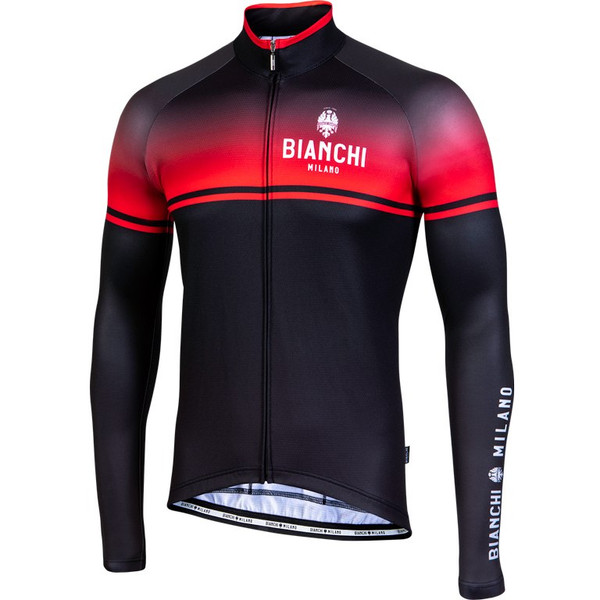Bianchi Milano Santerno Red Black Long Sleeve Jersey