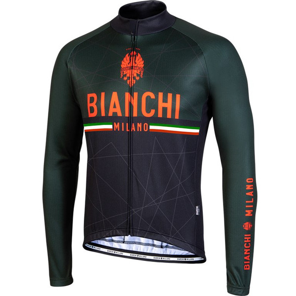 Bianchi Milano Valsenio Black Long Sleeve Jersey