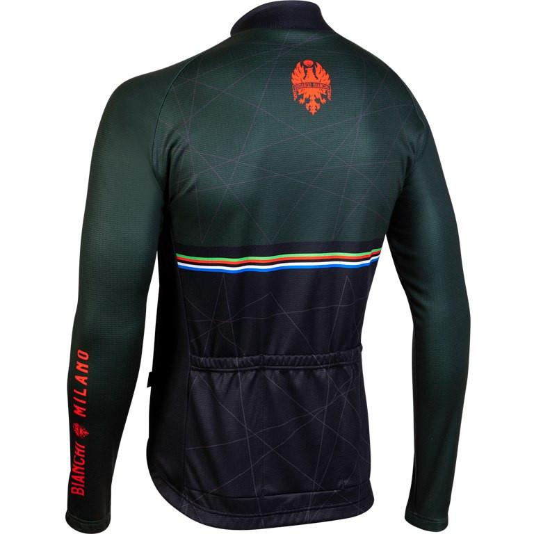 Bianchi Milano Valsenio Black Long Sleeve Jersey Rear