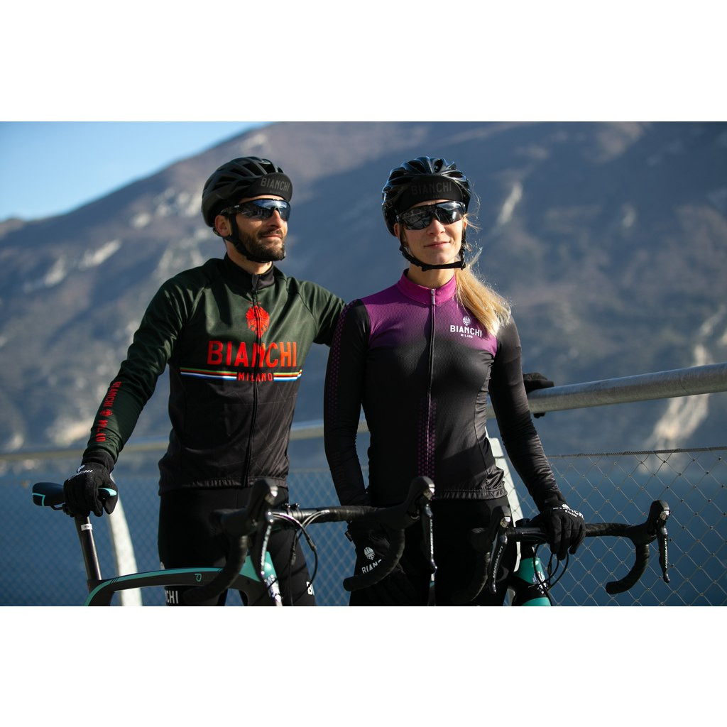 Bianchi Milano Valsenio Black Long Sleeve Jersey Rider