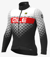 ALE' Hexa PRS DWR White Black Long Sleeve Jersey