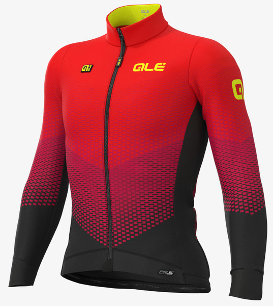 ALE' Delta Micro PRS Red Long Sleeve Jersey