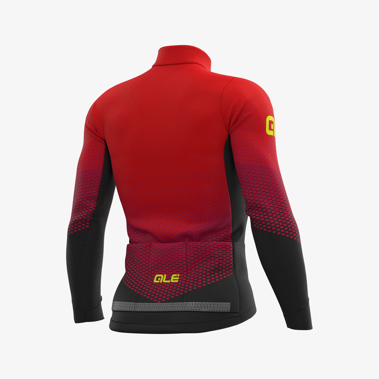 ALE' Delta Micro PRS Red Long Sleeve Jersey Rear