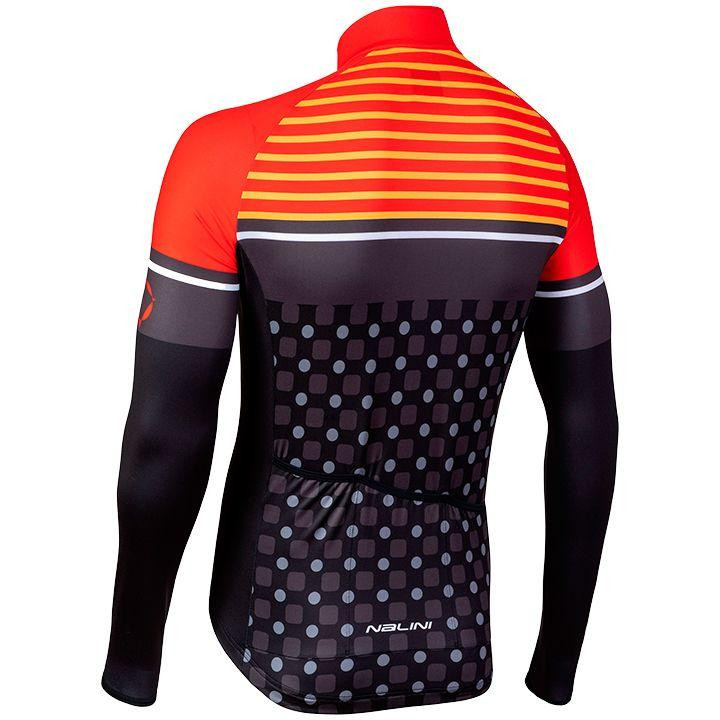 Nalini AIW TC 2.0 Red Long Sleeve Jersey Rear