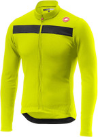 Castelli Puro 3 Thermal Yellow Fluo Long Sleeve Jersey