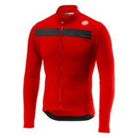 Castelli Puro 3 Thermal Red Long Sleeve Jersey