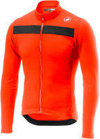 Castelli Puro 3 Thermal Orange Long Sleeve Jersey