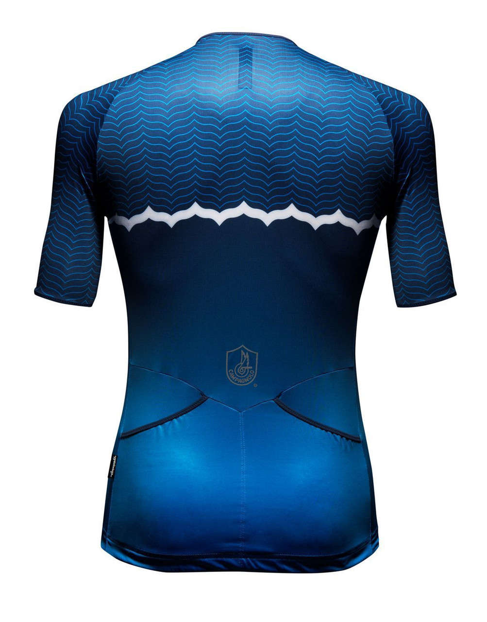 Campagnolo Quarzo Wave Blue Jersey Rear