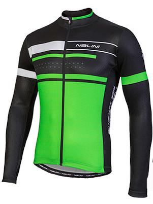 Nalini Fatica Green Black Long Sleeve Jersey