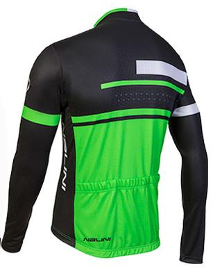 Nalini Fatica Green Black Long Sleeve Jersey Rear