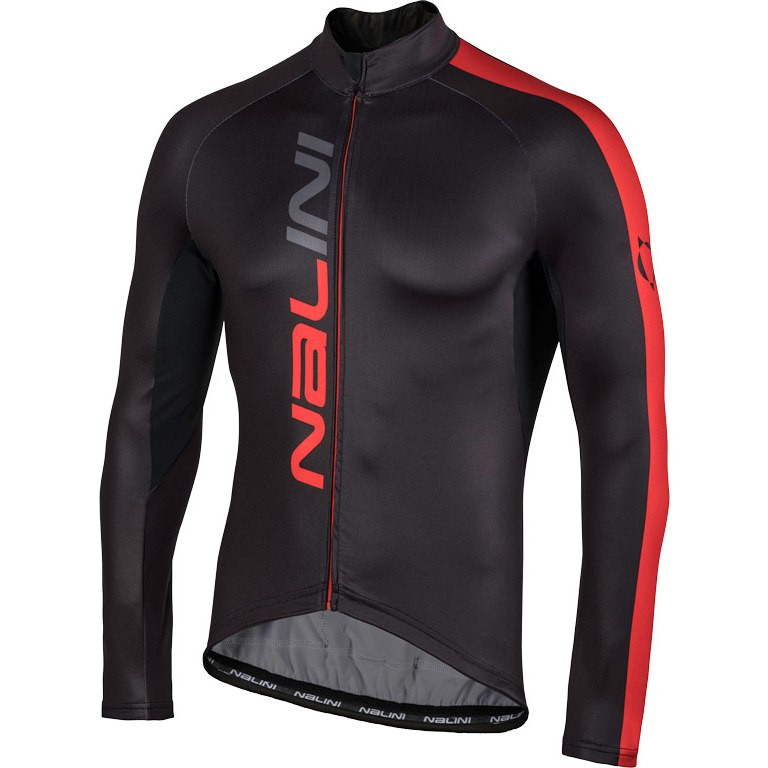 Nalini AHW LW Jersey Black Red Long Sleeve Jersey