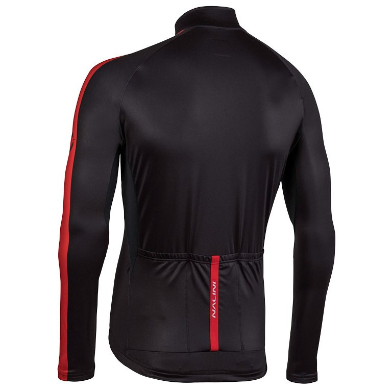 Nalini AHW LW Jersey Black Red Long Sleeve Rear
