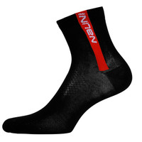 "Nalini ""Red"" Black Red Socks"