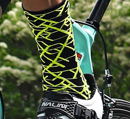 Nalini Saetta 2.0 Fluo Black Socks Rider