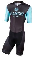 Bianchi Milano Temo Black Green Skin Suit