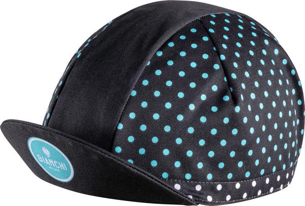 Rennrad Mütze Bianchi Neon Logo schwarz Radmütze Cappie