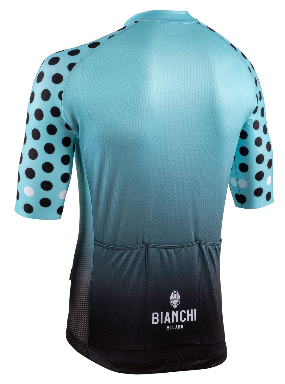 Bianchi Milano Cedrino Black Green Jersey Rear